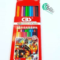 مداد رنگی سی بی اس 12 رنگ