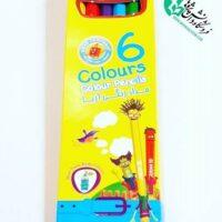 مداد رنگی 6 رنگ اریا