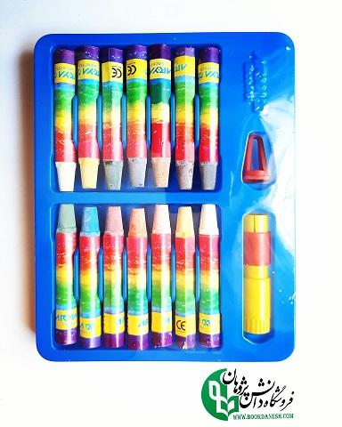 مداد-شمع 12 رنگ